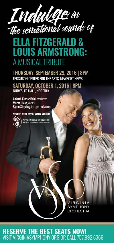 Louis Armstrong & Ella Fitzgerald Tribute Concert Ad with Maverick Marketing Advertising and Public Relations