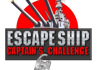 Escape Ship - Captain's Challege Logo with Maverick Marketing Advertising and Public Relations