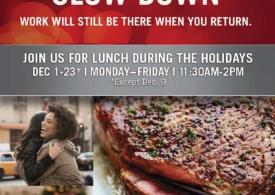 Ruth's Chris Steak House Holiday Lunch Ad with Maverick Marketing Advertising and Public Relations
