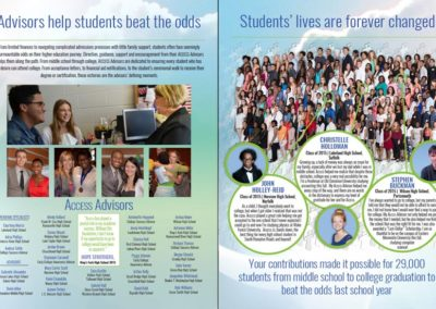 Access College Foundation - 2015 Annual Report Sample Spread with Maverick Marketing Advertising and Public Relations