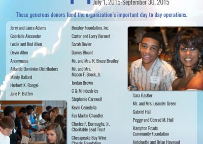 Access College Foundation - FY16 Annual Supporters List
