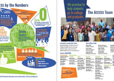 Access College Foundation - 2016 Annual Report Sample Spread with Maverick Marketing Advertising and Public Relations
