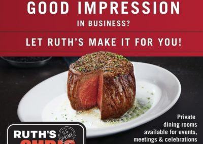 Ruth's Chris Steak House 2018 Spring Ad Campaign with Maverick Marketing Advertising and Public Relations