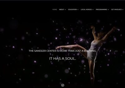 SandlerCenterFoundation.org   Website ReDesign with Maverick Marketing Advertising and Public Relations