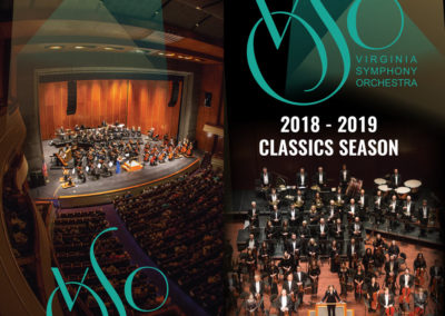 Virginia Symphony Orchestra | 2018-19 Classics Brochure Cover with Maverick Marketing Advertising and Public Relations