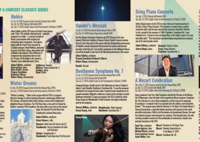 Virginia Symphony Orchestra | 2018-19 Classics Brochure Spread