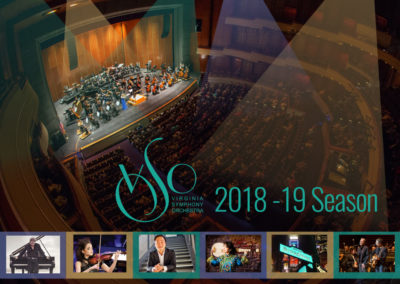 Virginia Symphony Orchestra | 2018-19 Season Cover with Maverick Marketing Advertising and Public Relations